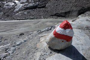 Wegmarkierung Gletscher