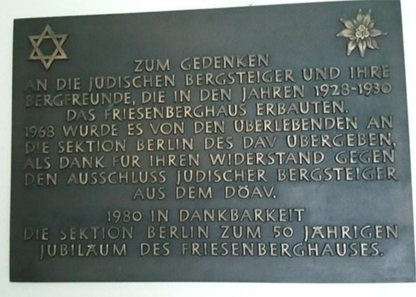 Zum Gedenken - die historische Bedeutung des Friesenberghauses