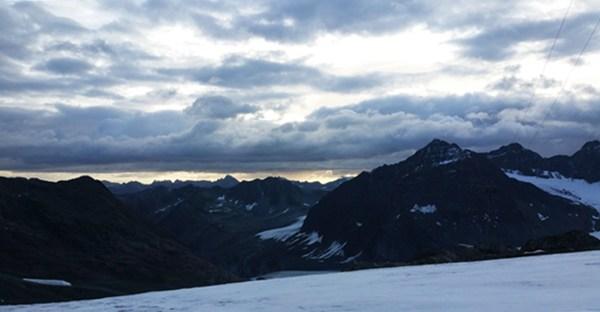 Sonnenaufgang im Pitztal in Tirol