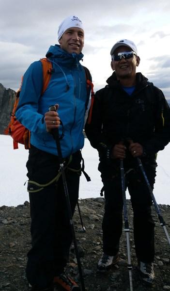 Mit Benni Raich und Tashi Tenzing am Pitztaler Gletscher