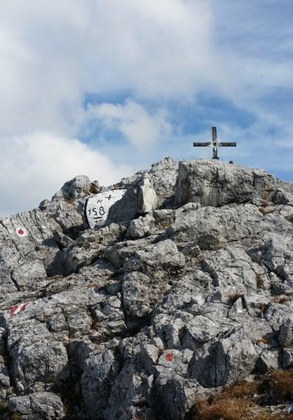 Gipfelkreuz in Siche