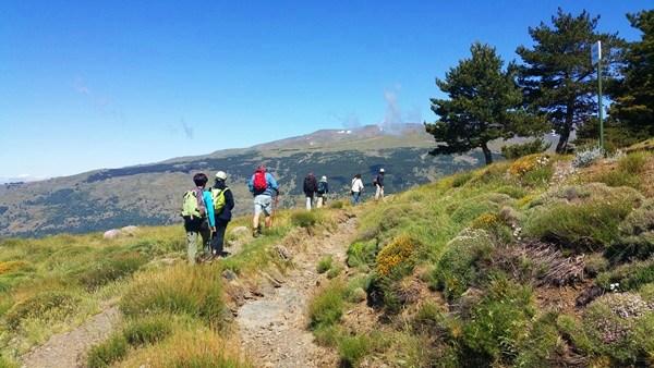 Wanderer in der Sierra Nevada