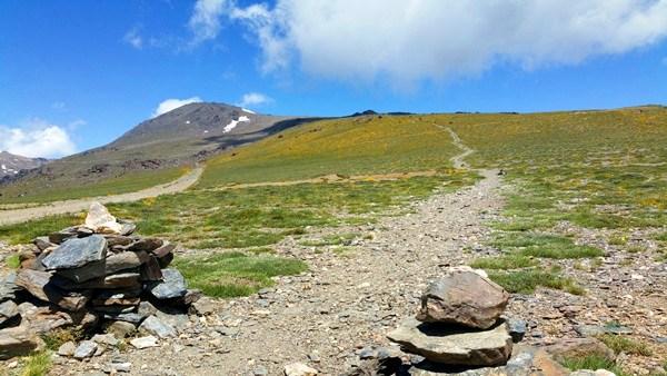 Der höchste Berg der Iberischen Halbinsel: der Mulhacén, 3.482m