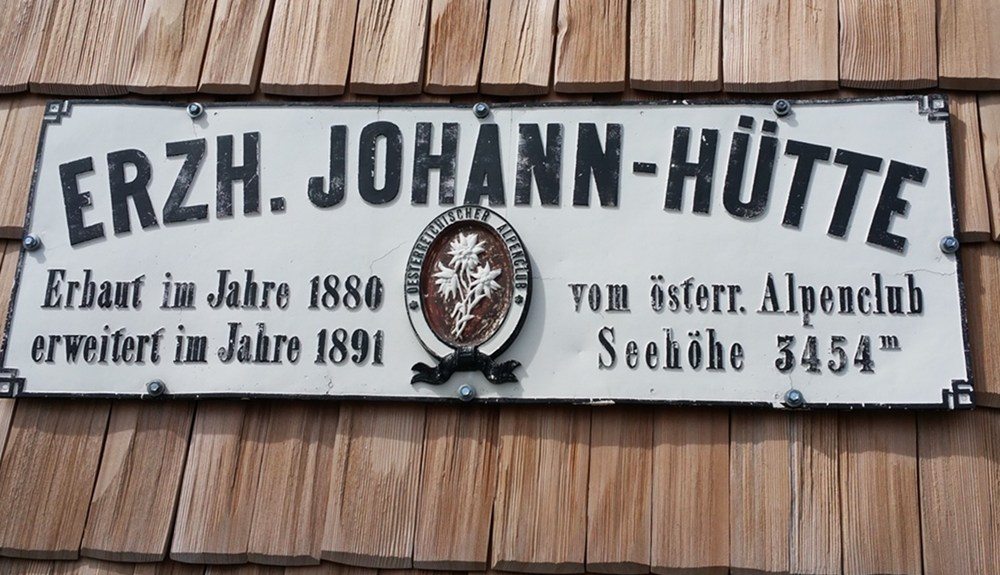 Lieblingshütten: die Erzherzog-Johann-Hütte (3.454m)