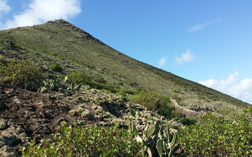 Vulkan Wanderung auf Lanzarote: zum Monte Corona
