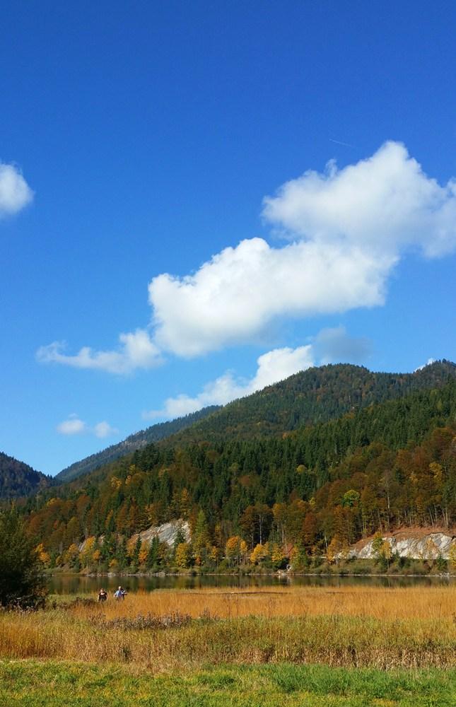 Herbstfarben im Dreiseengebiet zwischen Ruhpolding und Reit im Winkl