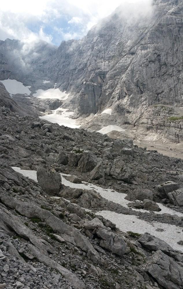 Blaueisgletscher zwischen Hochkalter und Schärtenspitze