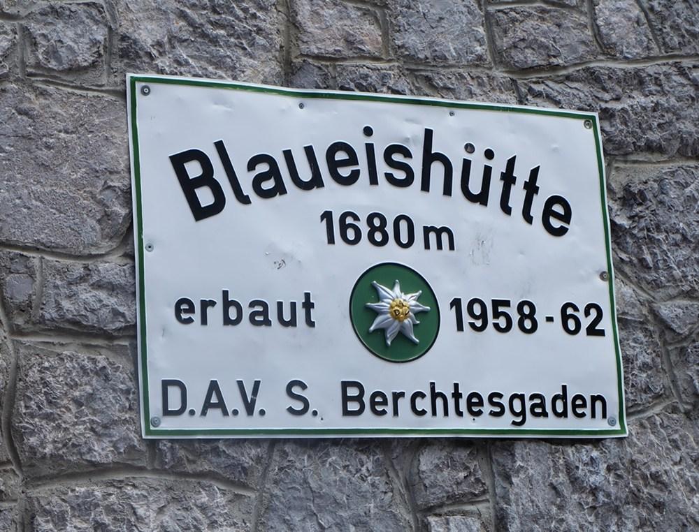 Hüttenschild Blaueishütte