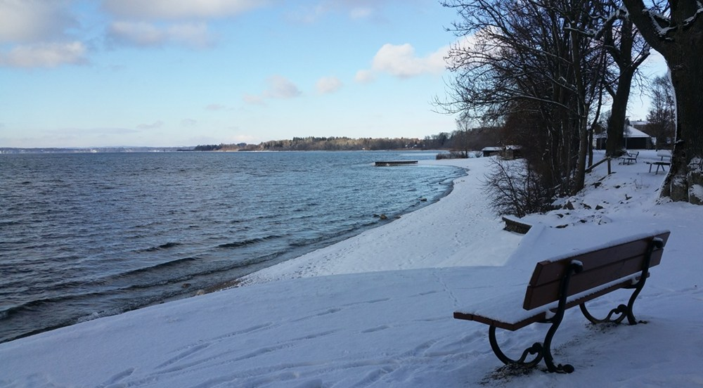 Winter-Spaziergang am Chiemsee
