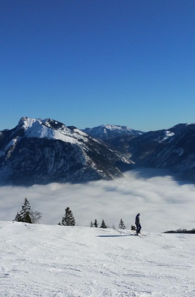 Blick vom Skigebiet Feuerkogel Richtung Osten