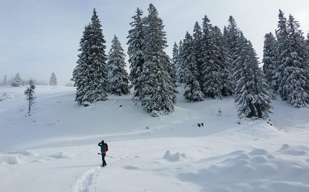 Gipfelbuch: Streicher mit Schneeschuhen