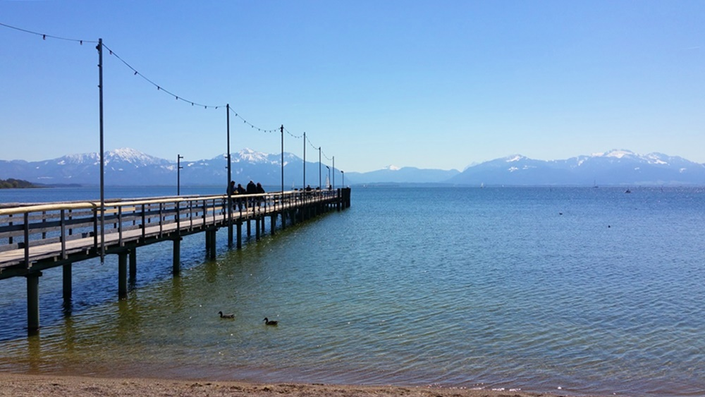 Steg am Chiemsee in Seebruck