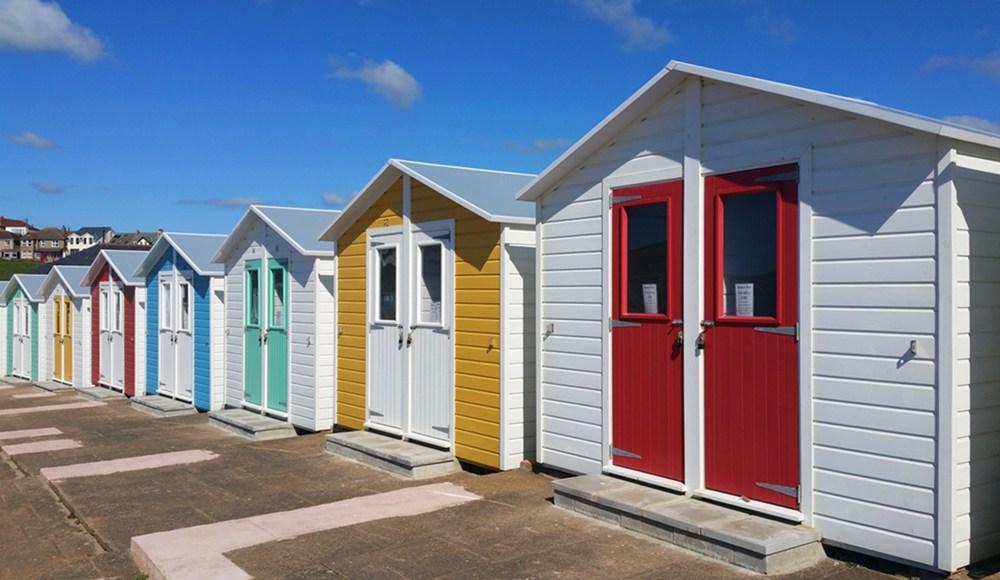 Strand Hütten in Bude, Cornwall