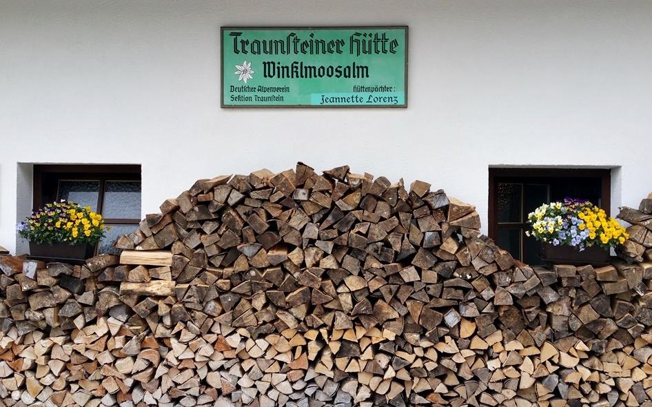 Traunsteiner Hütte auf der Winklmoos-Alm