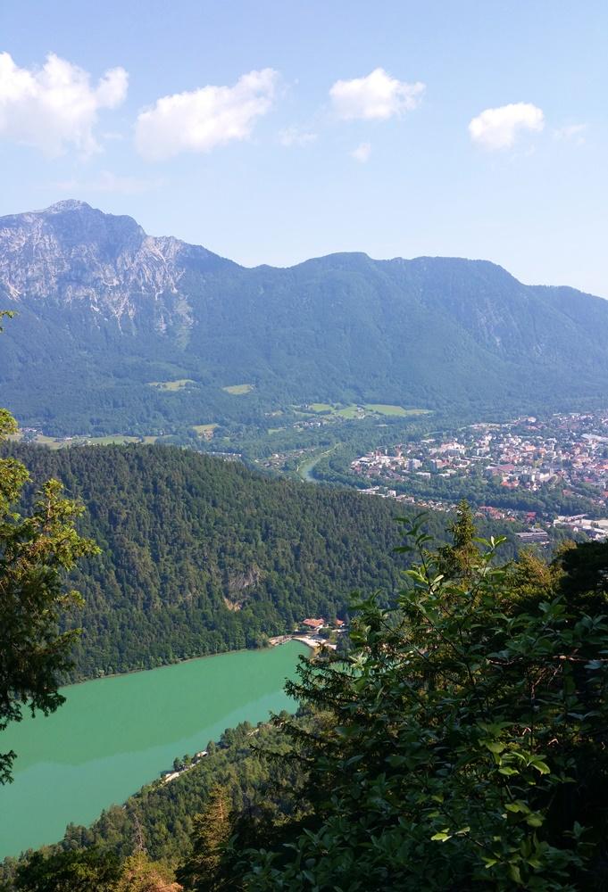 Blick auf Staufen, Bad Reichenhall und Saalachsee