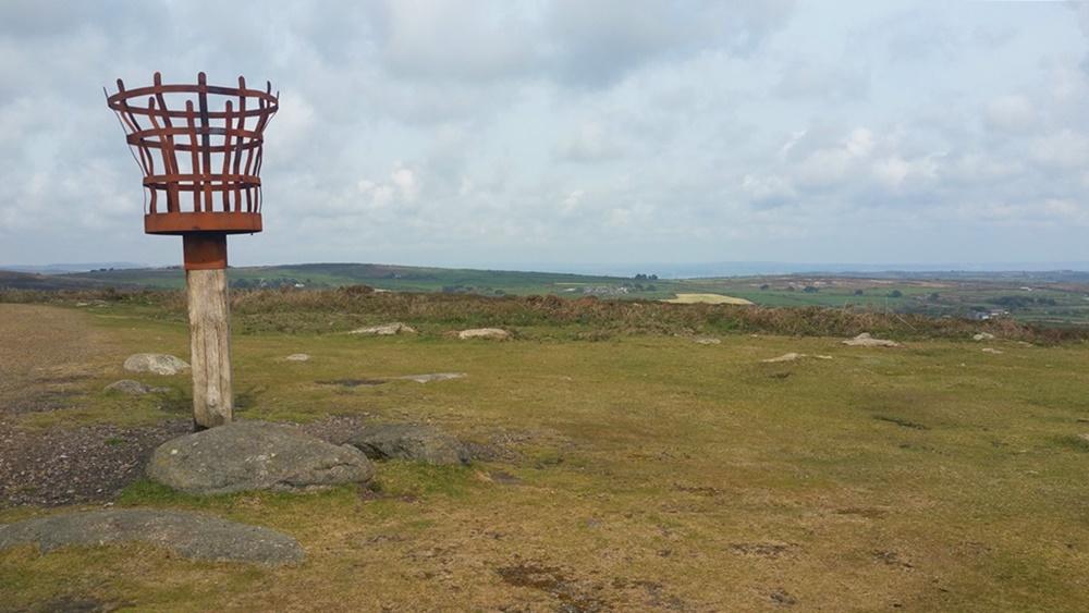 Beacon auf dem Gipfel des Chapel Carn Brea | Cornwall