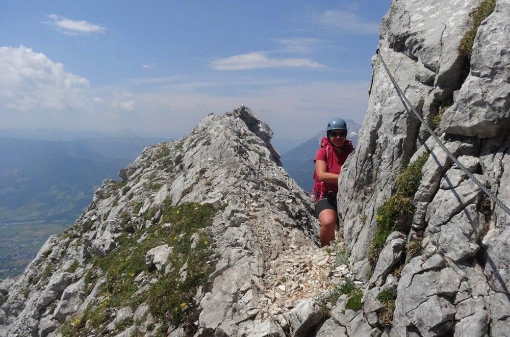 Klettern am Südwand Klettersteig zum Persailhorn