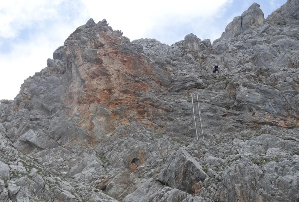 Südwand-Klettersteig Persailhorn: eine von drei Leitern