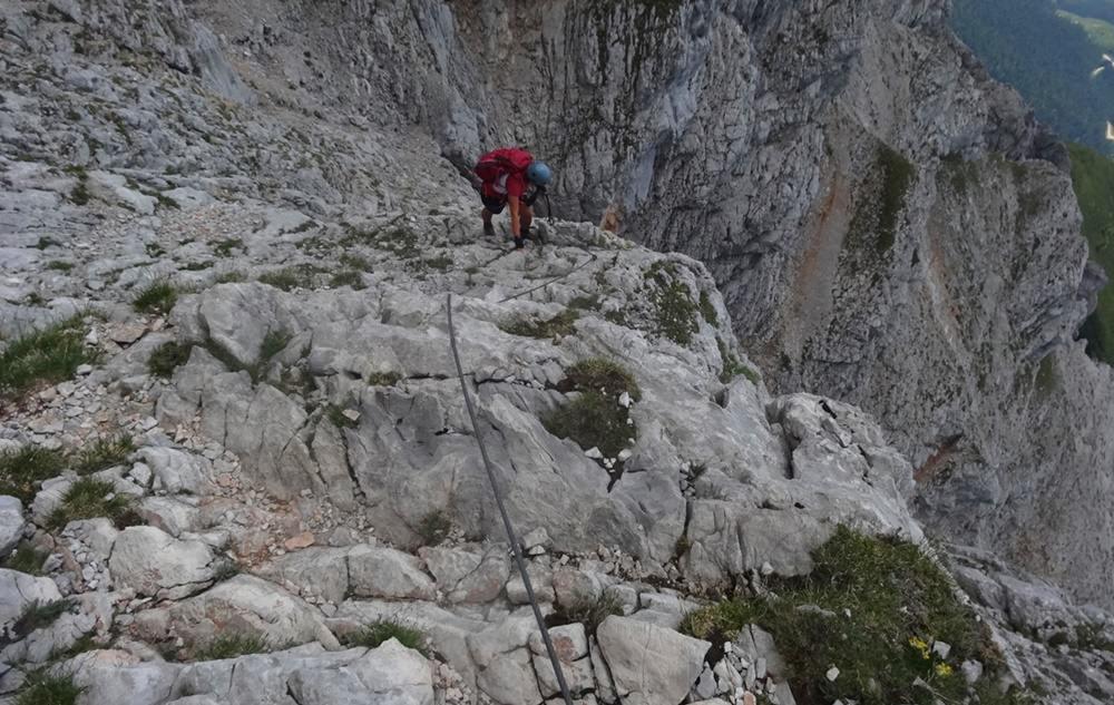 Südwand Klettersteig am Persailhorn, Berchtesgadener Alpen
