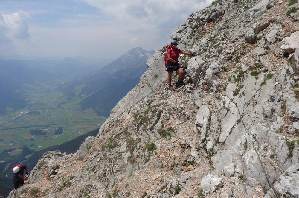 Südwand Klettersteig Persailhorn: klettersteigen mit Aussicht