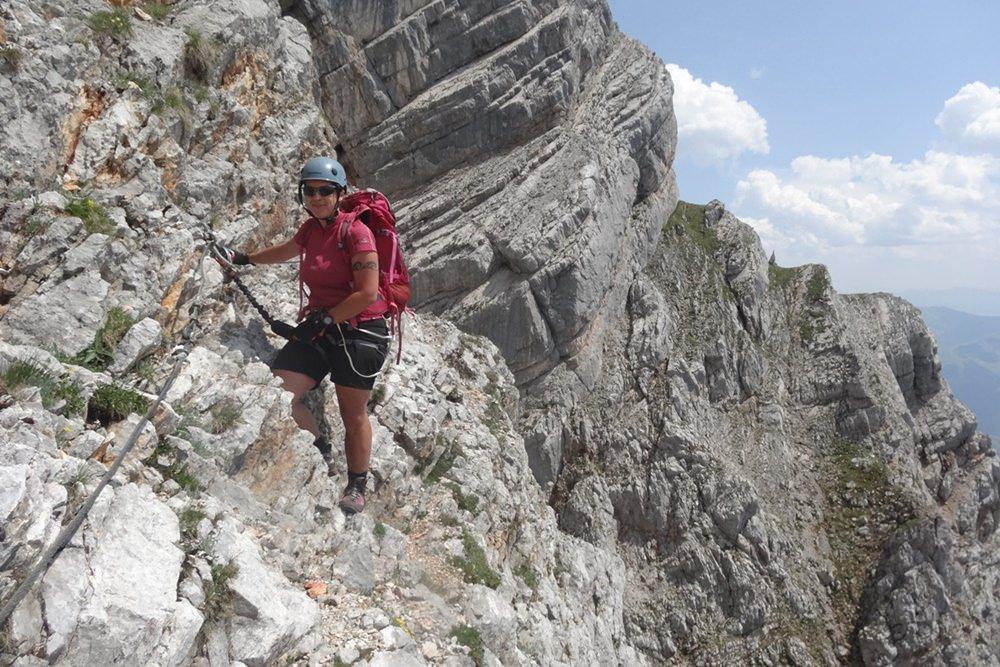 Südwand Klettersteig Persailhorn - felsiger Spaß oberhalb von Saalfelden/ Salzburger Land