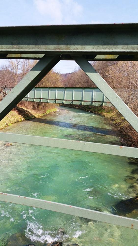 Von Ruhpolding nach Traunstein - Traun-Überquerung bei Siegsdorf