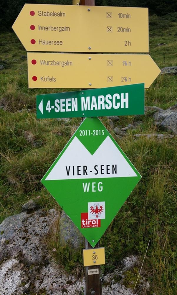 4-Seen-Marsch auf dem 4-Seen-Weg im Ötztal / Tirol