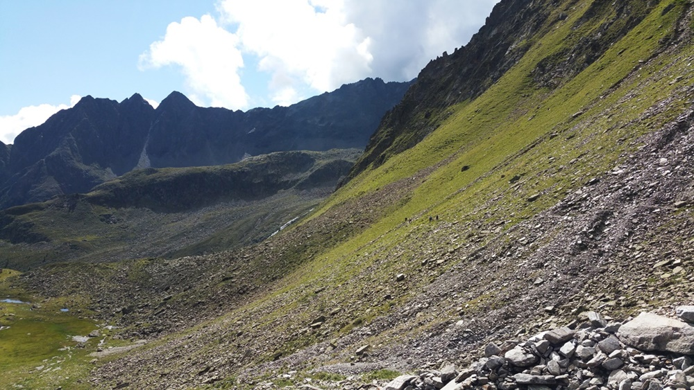 Unsichtbarer Pfad zwischen Weißer See und Unterem Spitzigsee/ 4-Seen-Marsch Ötztal/ Tirol
