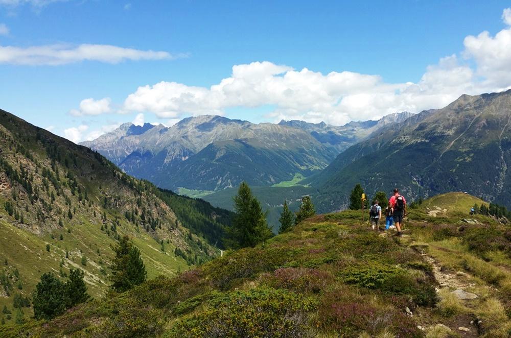 Abstieg vom Hauersee - unvergessliche Landschaft, unvergessliche Augenblicke beim 4-Seen-Marsch.