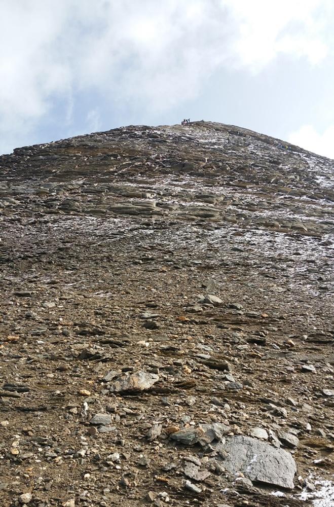 Endspurt zum Gipfel Wiesbachhorn. Ohne Menschen auf dem Foto, seltsam...