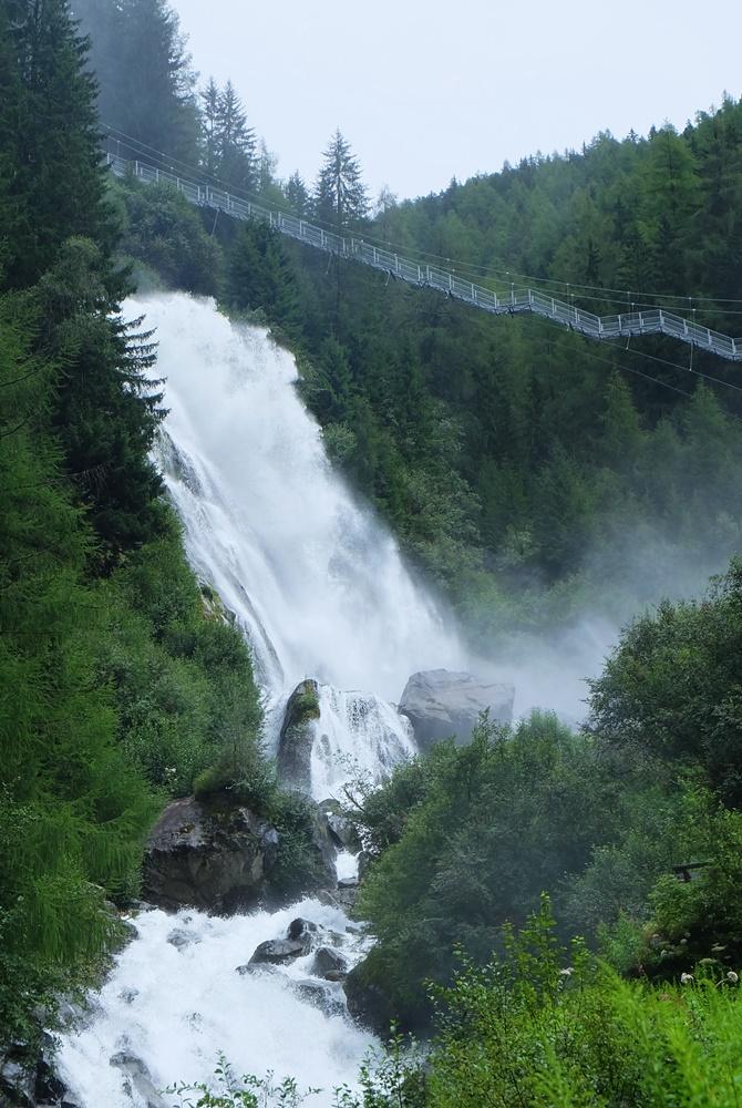 Der Stuibenfall - der höchste Wasserfall in Tirol, bei Umhausen im Ötztal