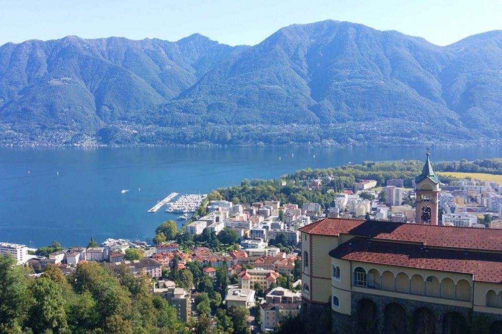 Locarno am Lago Maggiore - Start der Radltour ins Maggiatal | Tessin, Schweiz