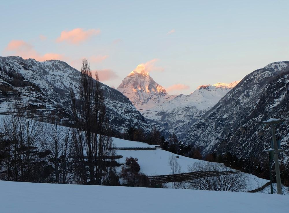 Logenplatz: Matterhorn Blick von Italien aus