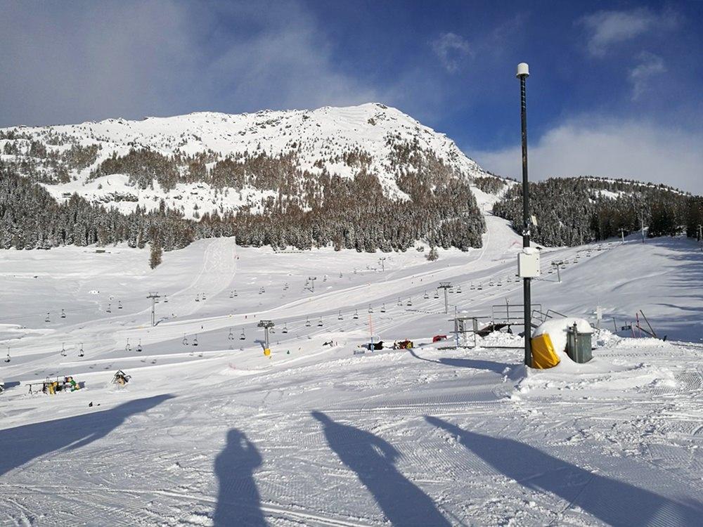 Perfekter Tag im Skigebiet Torgnon Italien