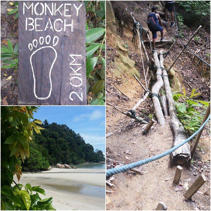 Wanderung zum Monkey Beach im Penang Nationalpark in Malaysia