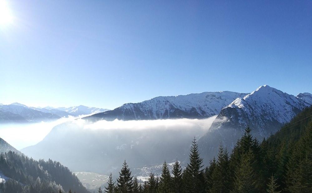Wolken über dem Achensee und dem Inntal, vom Rofan aus gesehen