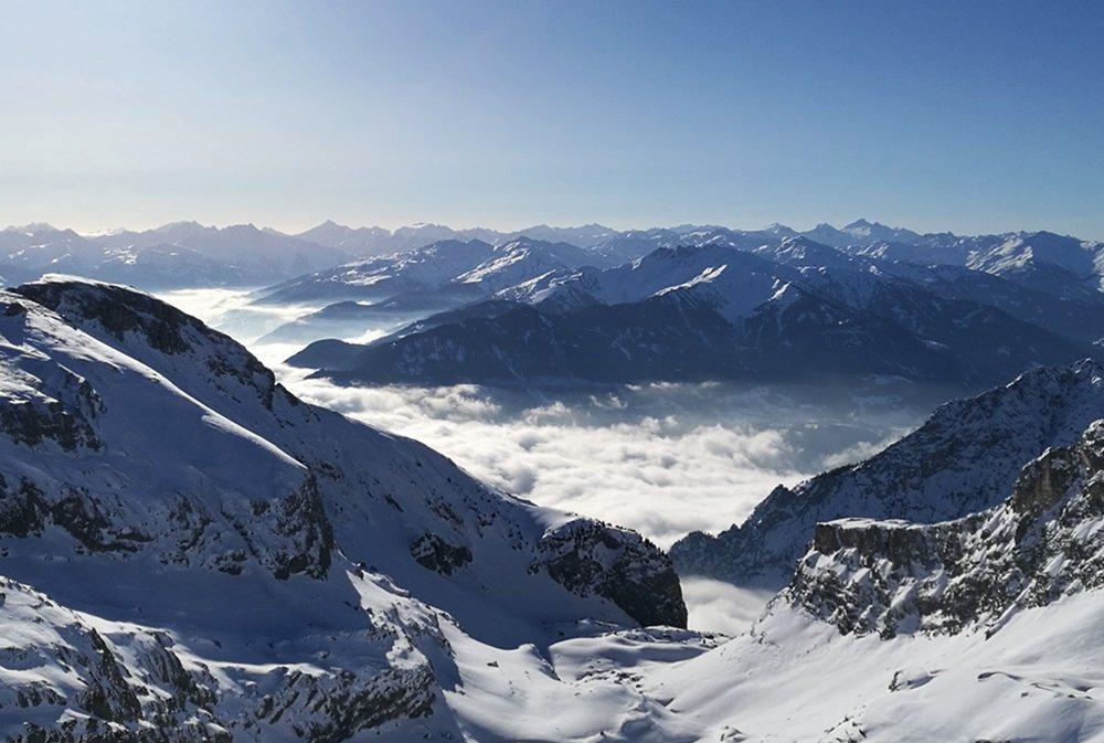 Rofanspitze und Erfurter Hütte: mit Schneeschuhen auf Hüttentour im Rofangebirge