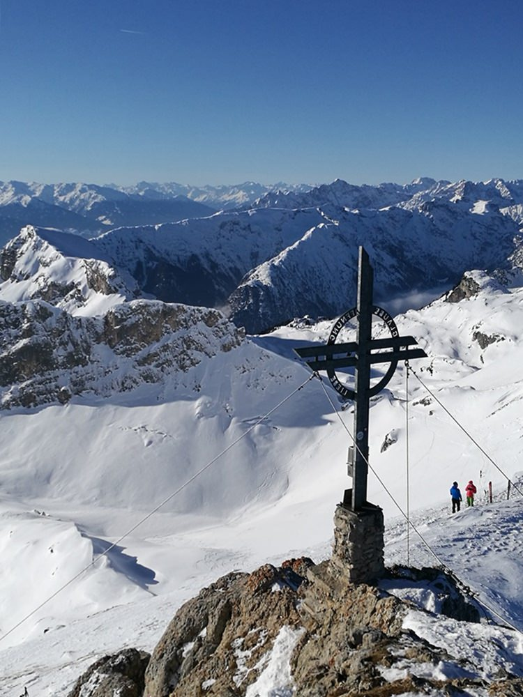 Gipfelkreuz der Rofanspitze