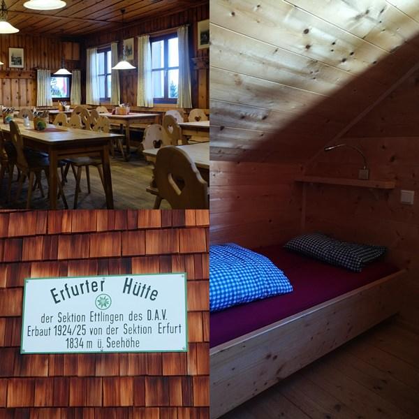 Basislager für die Tour zur Rofanspitze: die Erfurter Hütte
