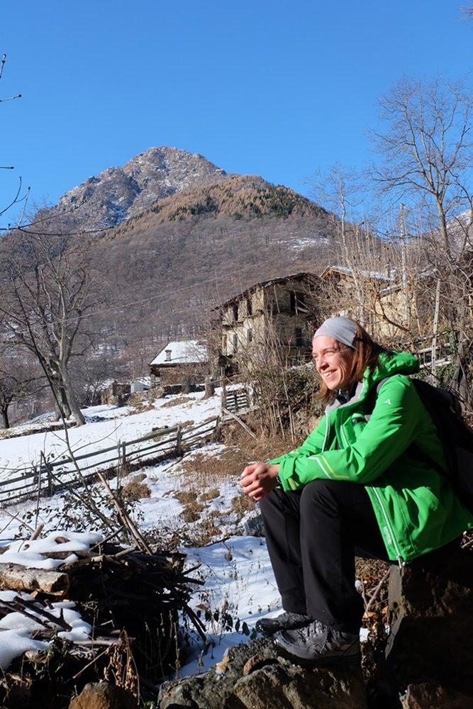 Gipfelglück im Aostatal - in Chemp, im Hintergrund der Croix Corma | Italien