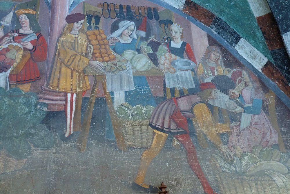Fresken im Castello di Issogne | Aostatal, Italien