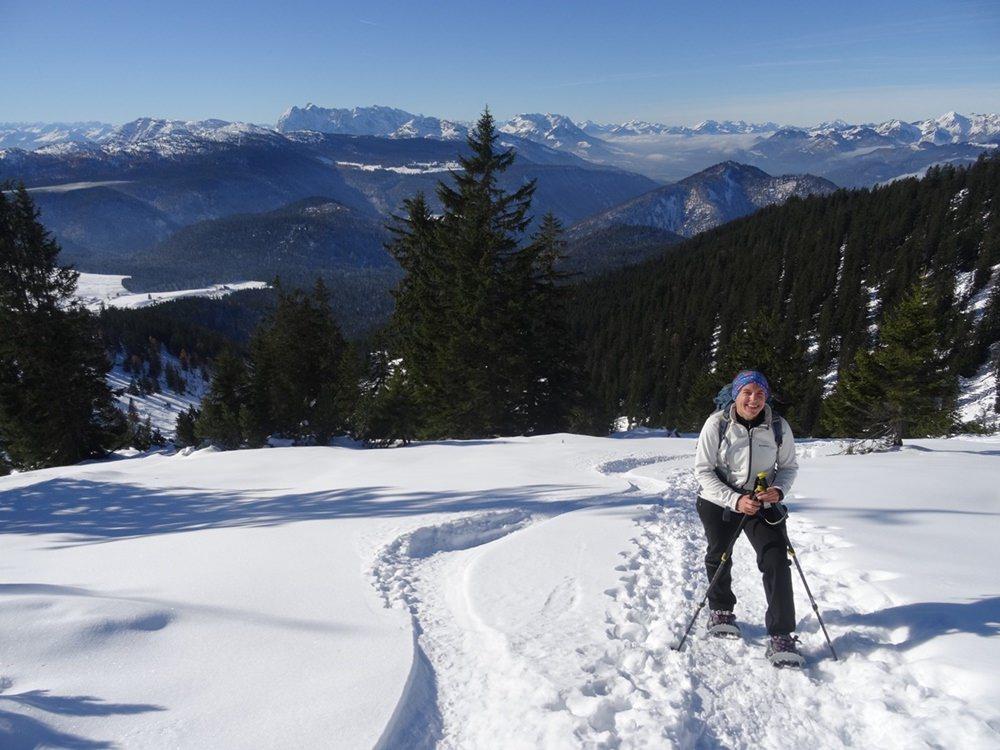 Die letzten Meter zum Gipfel des Dürrnbachhorns in den Chiemgauer Bergen