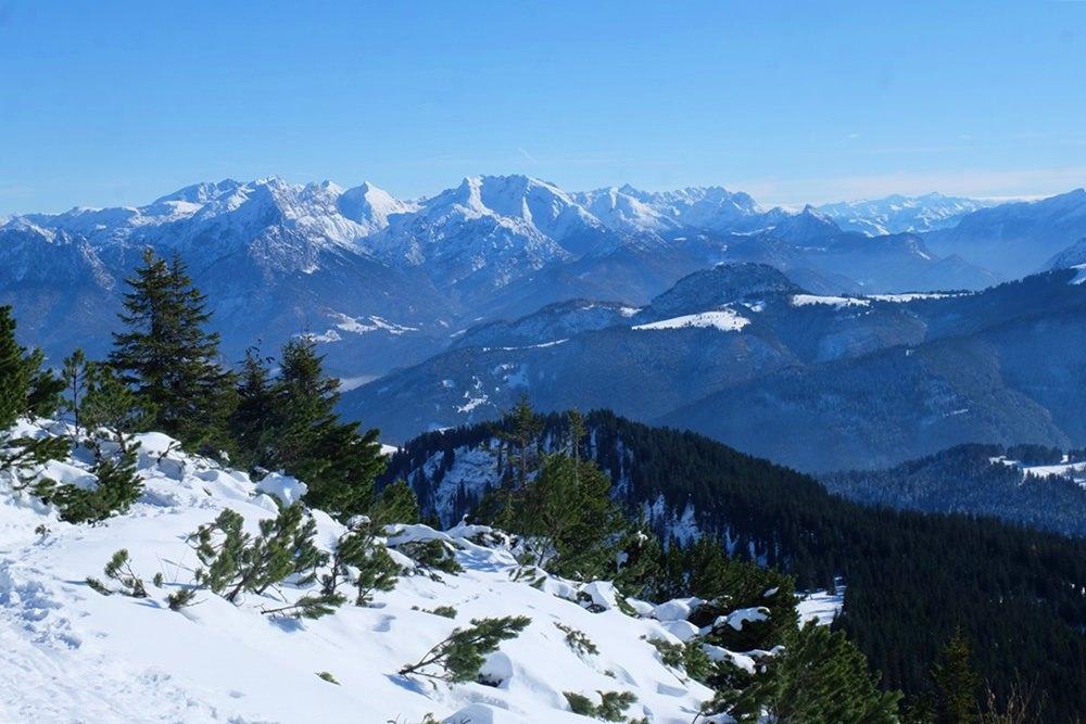Aussicht vom Dürrnbachhorn Richtung Berchtesgadener Alpen