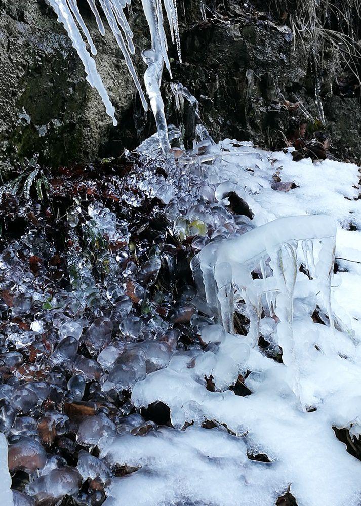 Eiskunst auf dem Weg zum Dürrnbachhorn