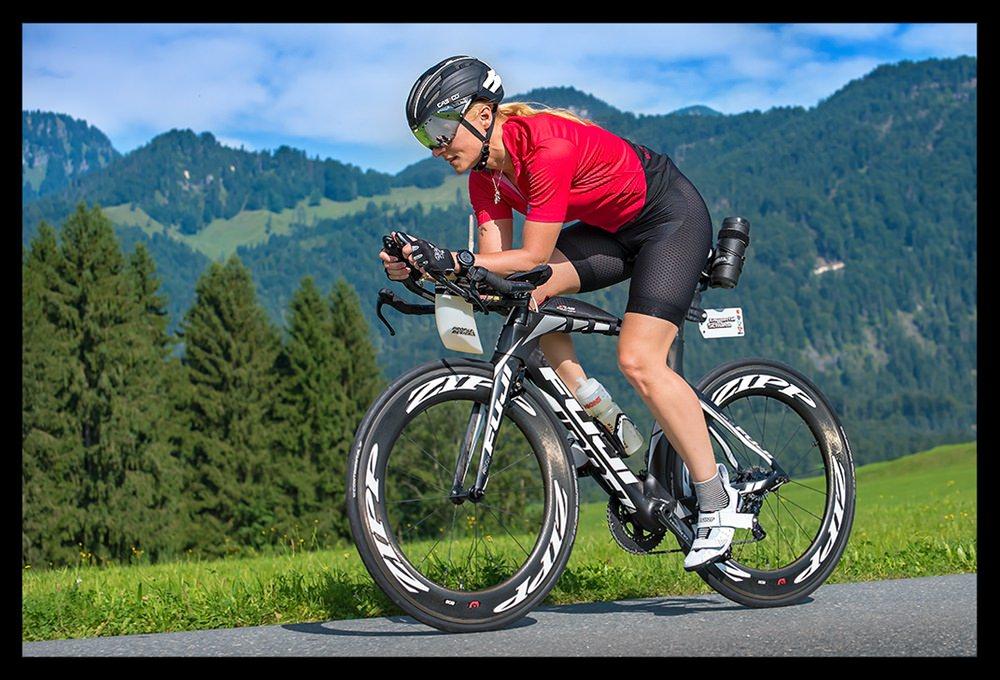 Nadin beim Radl-Training