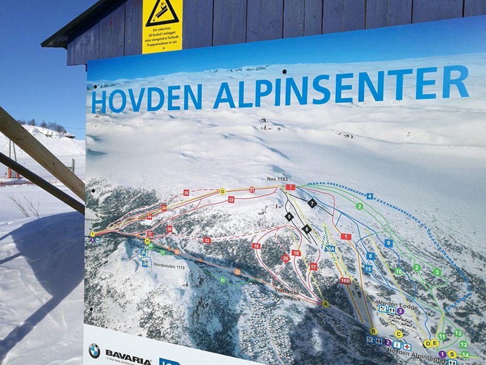 Übersicht über das Skigebiet Hovden | Hovden Alpinsenter Norwegen