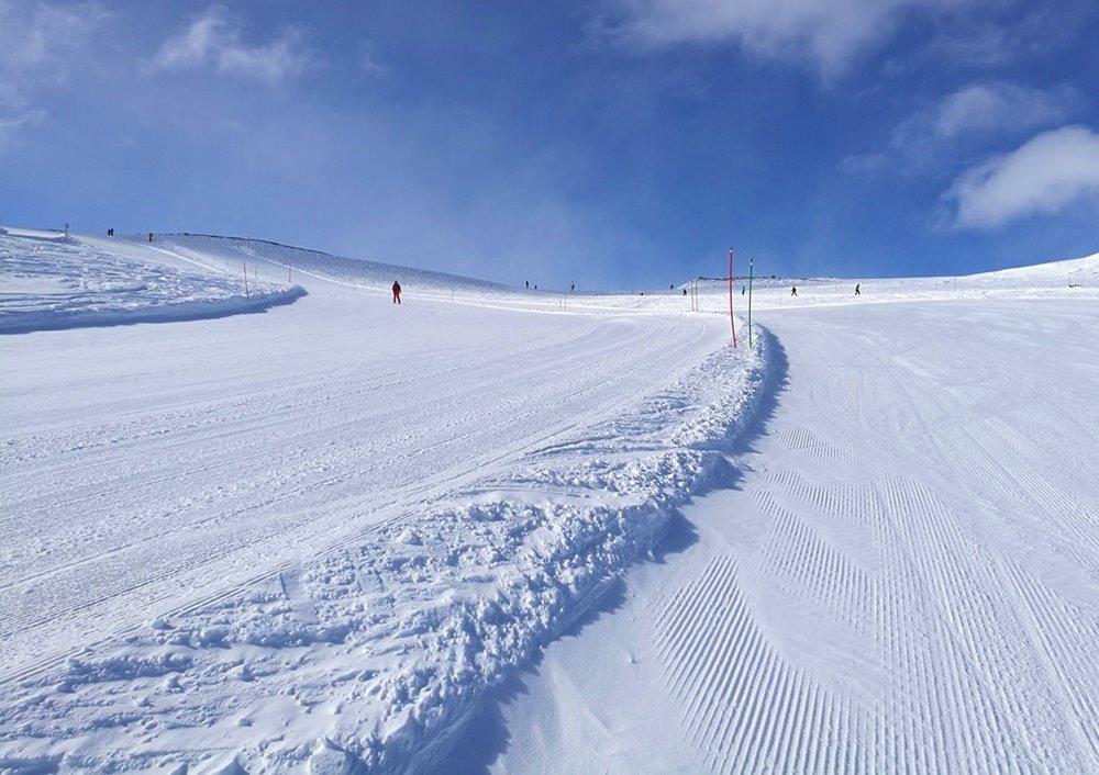 Weiße Pisten, blauer Himmel, sonst nichts. | Hovden, Norwegen