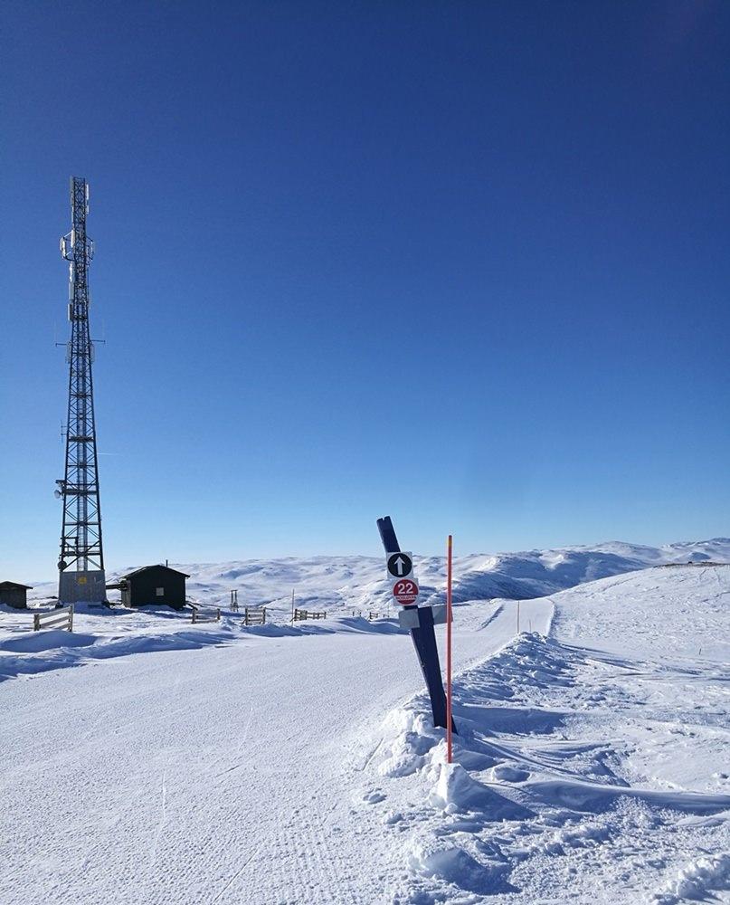 Gipfelglück & Pistenglück: am Nos-Gipfel über Hovden in Norwegen