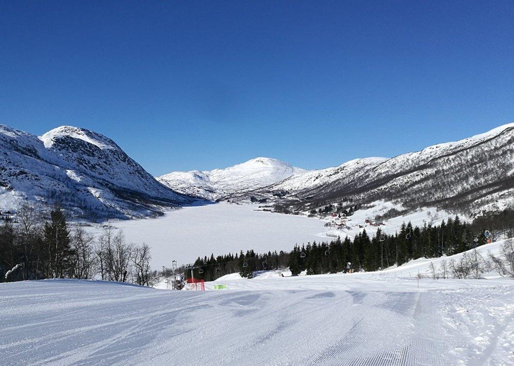 Skipiste, See und Schnee | Winter in Hovden, Norwegen