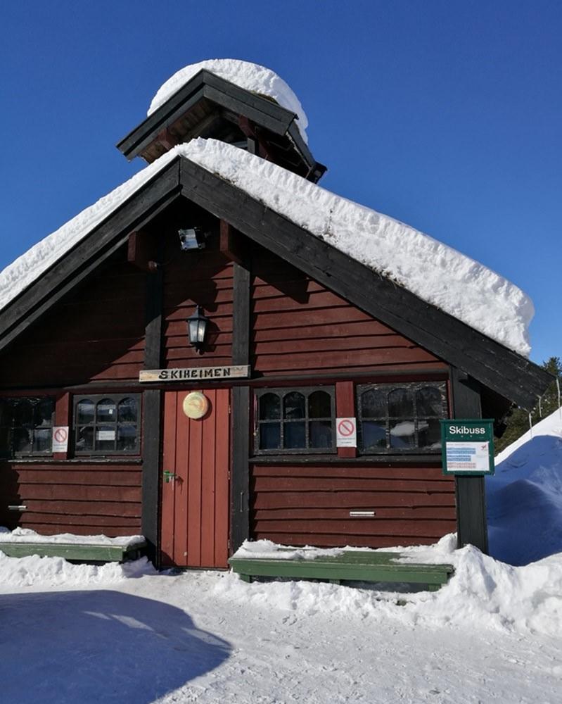 Ski-Aufbewahrung auf norwegisch im Hovden Resort | Hovden, Norwegen